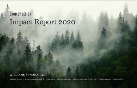 Williams-Sonoma, Inc. Impact Report 2020 (Graphic: Business Wire)