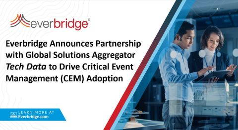 Everbridge Announces Partnership with Global Solutions Aggregator Tech Data to Drive Critical Event Management (CEM) Adoption (Graphic: Business Wire)