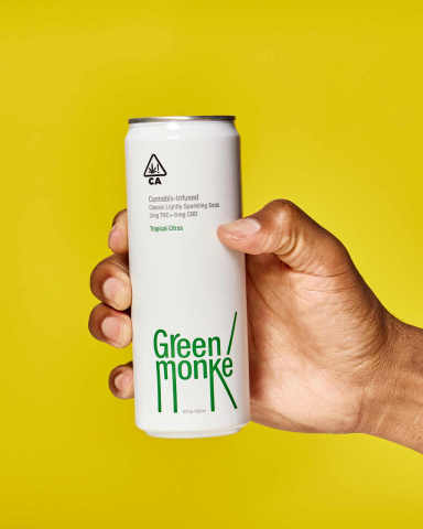 Whether drinking less alcohol, or simply looking for a laugh, Green Monké is an anytime soda that pairs well with your favorite bag of chips or anything fun. (Photo: Business Wire)