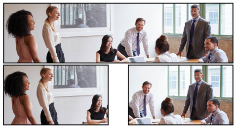Compose Mode supports panoramic view with voice tracking and people tracking. (Photo: Business Wire)
