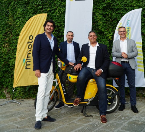 Helbiz Partners with IrenGo and Telepass to Launch the MiMoto Electric Moped Sharing Service Across Portofino and the Gulf of Tigullio (Photo: Business Wire)