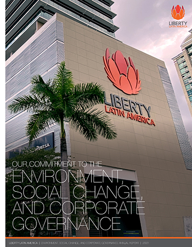 Our Commitment to the Environment, Social Change and Corporate Governance, Liberty Latin America, Annual Report 2020