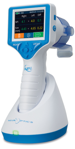 NeurOptics' NPi®-300 is a next-generation automated pupillometer that enhances pupillary assessment to assist in detecting cerebral insult, guiding treatment and informing prognosis for clinicians and their patients. (Photo: Business Wire)