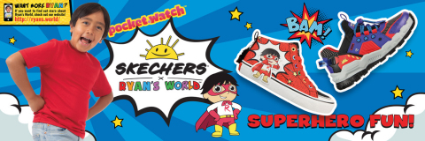 """Skechers teams up with """"Ryan's World"""" on kids' footwear in Skechers x Ryan's World collaboration. (Graphic: Business Wire)"""