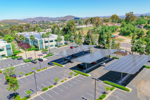 PowerFlex provides customers with a complete suite of onsite energy: solar, battery storage, and EV charging to reduce energy costs and carbon footprint. (Photo: Business Wire)
