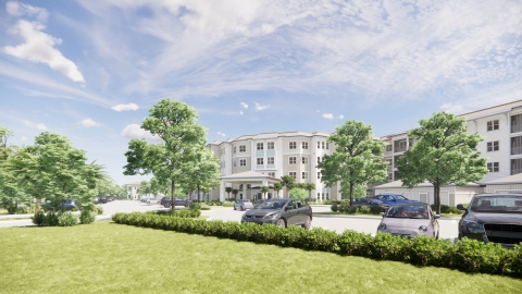 The planned Watersound Fountains independent living community. (Photo: Business Wire)