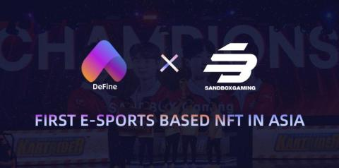 NFT Social Platform DeFine Issues First E-Sports Based NFT in Asia with Sandbox Gaming (Graphic: Business Wire)