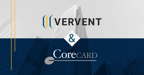 Vervent & CoreCard establish partnership for best-in-class credit card processing. (Graphic: Business Wire)