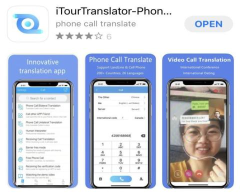ITourTranslator can translate phone calls and WhatsApp calls (Photo: Business Wire)