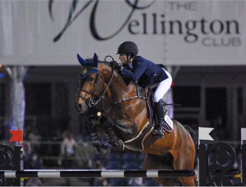 Jessica Springsteen, the daughter of Bruce Springsteen, is a regular competitor at PBIEC and will be representing the US at the Tokyo Olympics this year. (Photo: Business Wire)