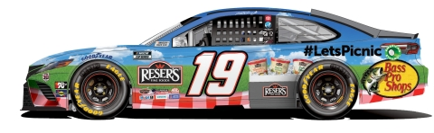 New Paint Scheme for Martin Truex Jr.'s No. 19 Reser's Toyota at New Hampshire Motor Speedway (Photo: Business Wire)