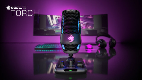 Introducing the ROCCAT Torch USB microphone. A sleek-looking mic that delivers pro-level performance for a MSRP of $99.99. Pre-order the Torch today at www.ROCCAT.com and participating retailers and be sure to get it first when it launches on August 15, 2021. (Photo: Business Wire)