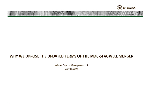Presentation: Why We Oppose the Updated Terms of the MDC-Stagwell Merger