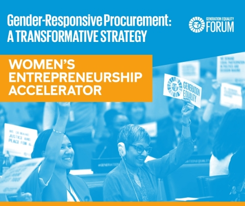 Panel speakers shared insights on how to implement inclusive procurement strategies. (Graphic: WEA)