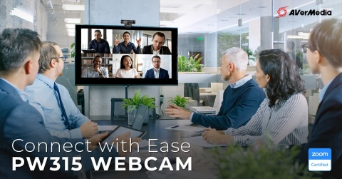 Connect with ease with the Zoom-certified PW315 webcam (Photo: AVerMedia)