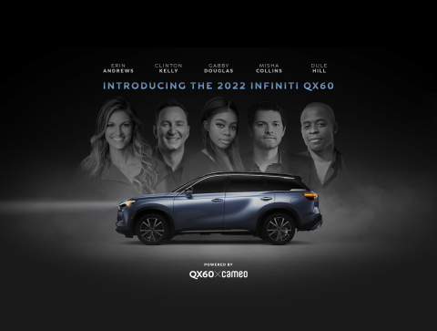 INFINITI today introduced a novel Reservation Program featuring Cameo, the leading marketplace connecting fans with pop culture icons, for its all-new 2022 QX60 luxury SUV. Reservations will be available from July 13, 2021 until the QX60 officially goes on sale in early fall. (Photo: Business Wire)