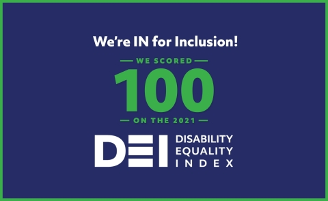 CAI earns 100 on the 2021 Disability Equality Index. (Graphic: Business Wire)