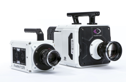 Vision Research introduces two models in its Ultrahigh-speed performance line of Phantom® cameras. Featuring a breakthrough CMOS sensor with back side illumination (BSI), the new T3610 and TMX 5010 cameras sustain their image throughput with optimized light sensitivity for high frame rates and sub-microsecond exposures. (Photo: Business Wire)