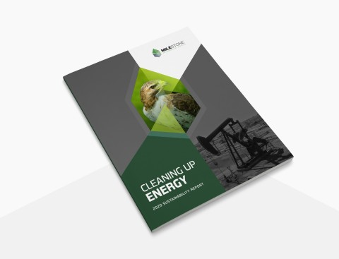 Milestone's inaugural Sustainability Report clearly states the company's carbon-negative emissions profile and commitment to further ESG initiatives, as well as demonstrates opportunities for energy companies to further reduce their GHG intensity. (Photo: Business Wire)