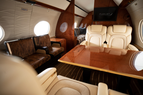 The Gulfstream G650 is part of Red Label by Flexjet, which features the industry's most modern fleet, flight crews dedicated to a single, specific jet and custom cabin interiors. (Photo: Business Wire)