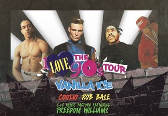 """Vanilla Ice Headlines """"I Love The 90's"""" Performance at Rivers Casino Pittsburgh. (Photo: Business Wire)"""