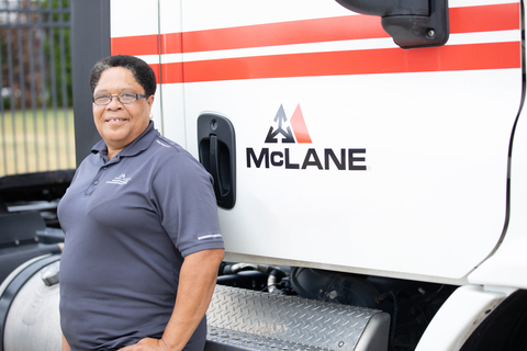 Among the employment opportunities at McLane Company are Yard Drivers. Teammates like Daphne support trailer movements at the distribution center and drive and maneuver tractor-trailers to specified doors or lot locations. (Photo: Business Wire)