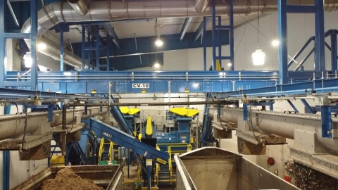 An aerial view of the processing equipment within the new facility. (Photo: Business Wire)