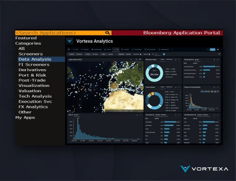 Vortexa Energy Analytics App, now available on The Bloomberg App Portal (Graphic: Business Wire)