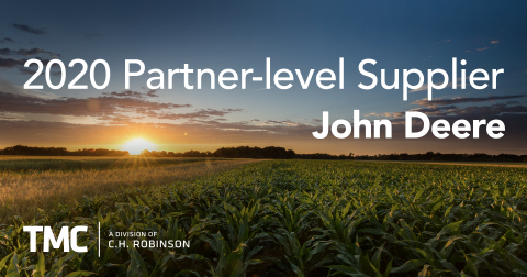 TMC, a division of C.H. Robinson, earns Partner-level status from John Deere based on outstanding results in 2020. (Photo: Business Wire)