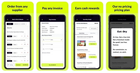 Screenshots of the free Cut+Dry mobile app. (Photo: Business Wire)