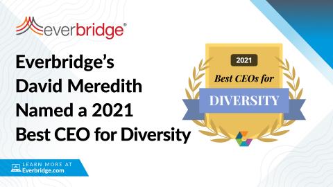 """Everbridge CEO Named a Top 50 """"Best CEO for Diversity"""" for 2021 (Graphic: Business Wire)"""