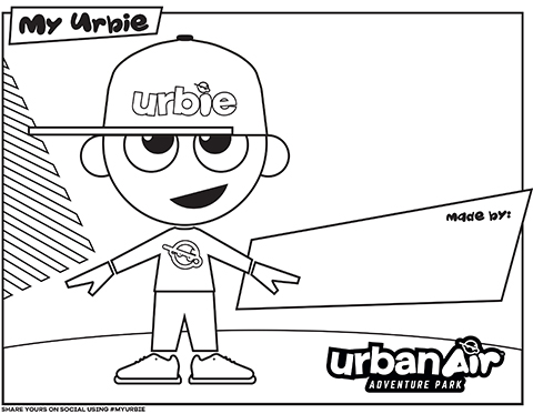 Kids can show off their creative side by downloading and printing Urbie coloring sheets from UrbanAirParks.com/Urbie. Children are then encouraged to bring their Urbie creations to life via their coloring method of choice and share on social media using #letemflywithurbie.