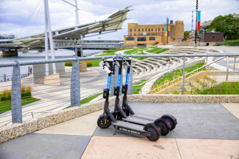 Micro-Mobility Leader, Helbiz, Launches E-Scooters in Waterloo, Iowa (Photo: Business Wire)