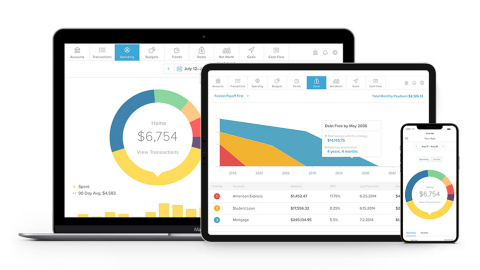 Ivy's sophisticated Money Management tool enables customers to view all bank accounts in one place, including those held at other financial institutions, visualize spending by category, set and manage budgets, manage debt, view net worth and more. (Photo: Business Wire)