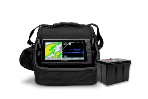 Fish all day with the Garmin LiveScope Ice Fishing Bundle LI, the first and only live-scanning sonar bundle for ice fishing now paired with a lightweight lithium battery. (Photo: Business Wire)