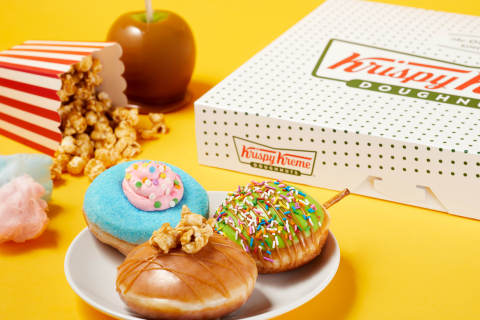 Three delightful doughnut versions of favorite carnival treats, available for limited time (Photo: Business Wire)