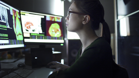The Flywheel platform automates many data aggregation, curation and management tasks that require time-consuming manual effort—streamlining researchers' ability to securely share data and analyses. (Graphic: iStock)