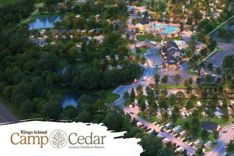 Kings Island Camp Cedar is now open! The year-round, luxury outdoor resort serves as the official lodging destination for Kings Island Amusement Park in Mason, Oh. Photo Credit: Kings Island Camp Cedar