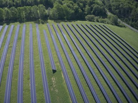 A Generate community solar project in Sullivan County, New York built in a partnership with Delaware River Solar. Generate's portfolio of about $2 billion in sustainable infrastructure assets spans across the energy, waste, water and transport markets. (Photo: Business Wire)