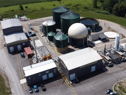 A food waste digester in London, Ontario owned by Generate in a partnership with StormFisher Environmental. Generate's portfolio of about $2 billion in sustainable infrastructure assets spans across the energy, waste, water and transport markets. (Photo: Business Wire)