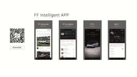 Faraday Future's New FF Intelligent App (Graphic: Business Wire)