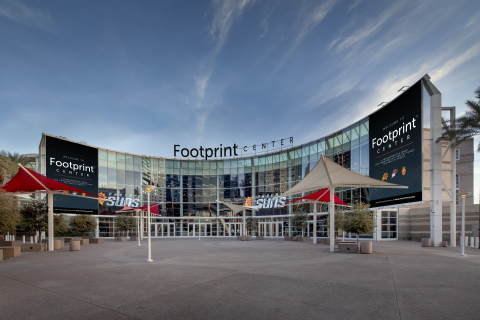 The newly named Footprint Center: a transformative venue to accelerate a plastic-free future. (Photo: Business Wire)