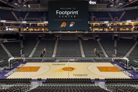 The Suns and Footprint will educate the million-plus fans that come through the arena each year on the important message of a plastic-free future. (Photo: Business Wire)