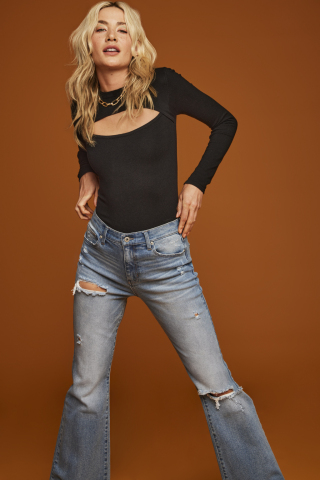 Discover versatile pieces made for your amazing, ready-for-anything life from And Now This, exclusively at Macy's; And Now This Cutout Sweater and Ripped Flare-Leg Jeans, $39.00 - $44.00 (Photo: Business Wire)