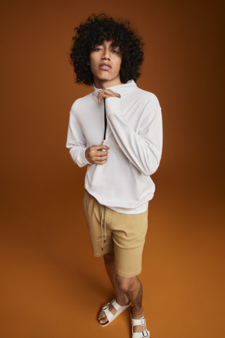 Discover versatile pieces made for your amazing, ready-for-anything life from And Now This, exclusively at Macy's; And Now This Seamed Half Zip Sweatshirt and Brushed Twill Everyday Short, $35.00 - $39.500 (Photo: Business Wire)
