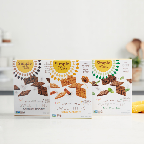Simple Mills Is Reinventing the Cookie Aisle with the Launch of Sweet Thins, A New Better-for-You Light & Crispy Sweet Snack (Photo: Business Wire)