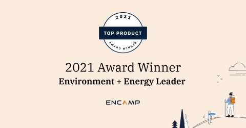 Encamp Garners Top Product of the Year Award from Environment + Energy Leader for 2021. (Photo: Business Wire)