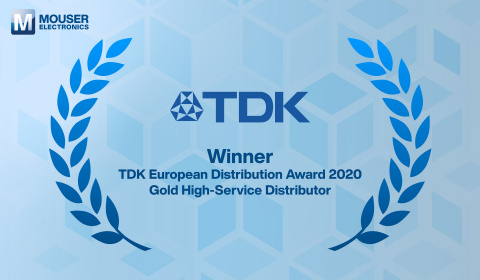 Mouser Electronics Honored As Exclusive Recipient of the European Distribution Award from TDK (Graphic: Business Wire)