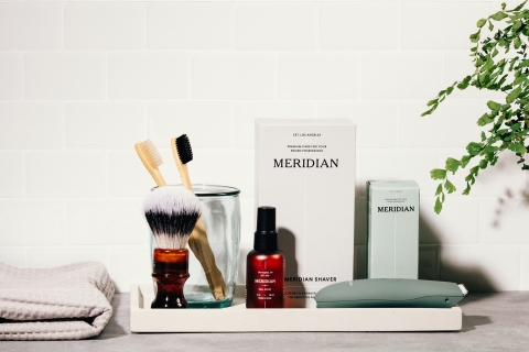 Meridian, a men's precision-grade below-the-belt grooming brand, launched in 2020. (Photo: Business Wire)