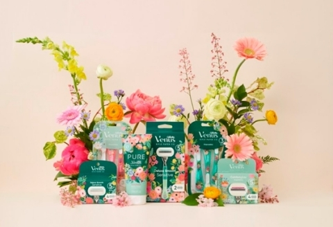 The full Gillette Venus x Rifle Paper Co. shave collection. (Photo: Business Wire)